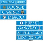 Cruise Ship Sign Cutouts