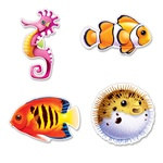 Under The Sea Fish Cutouts (4/pkg)