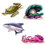 Under The Sea Creature Cutouts (4/pkg)