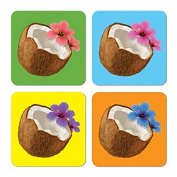 Coconut Coasters (8/pkg)