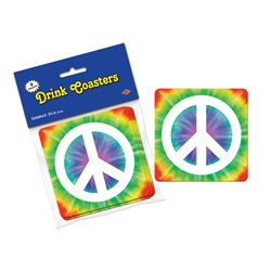 Peace Sign Coasters (8/pkg)