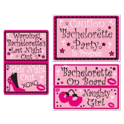 Bachelorette Auto-Clings (5/pkg)