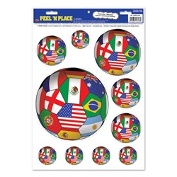 International Soccer Peel 'N Place (6/Sheet)