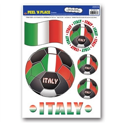 Italy Soccer Peel 'N Place (6/Sheet)