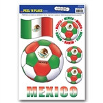 Mexico Soccer Peel 'N Place (6/Sheet)