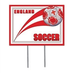 England Soccer Plastic Yard Sign