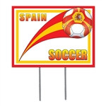 Spain Soccer Plastic Yard Sign