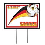 Germany Soccer Plastic Yard Sign
