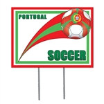 Portugal Soccer Plastic Yard Sign