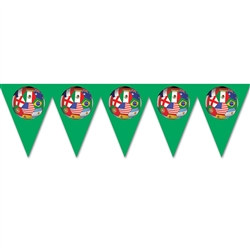 International Soccer Pennant Banner