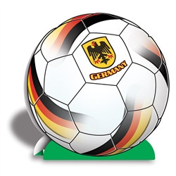Germany Soccer 3-D Centerpiece