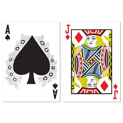 Jumbo Blackjack Cutouts (2/Pkg)