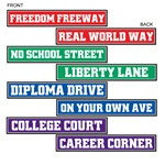 Graduation Street Sign Cutouts (4/pkg)