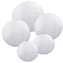 White Paper Lantern Assortment