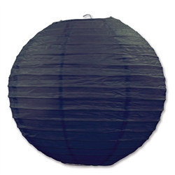Black Paper Lanterns (3 Paper Lanterns Per Package)