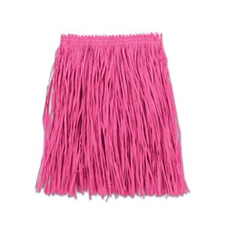 Pink Adult Mini Paper Raffia Hula Skirt