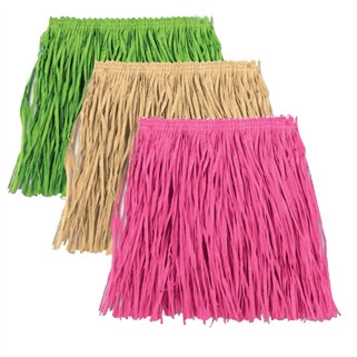 Child Mini Paper Raffia Hula Skirt (Select Color)