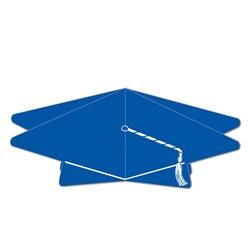 Blue 3-D Graduation Cap Centerpiece