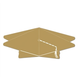 Gold 3-D Graduation Cap Centerpiece