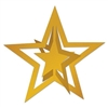 Gold 3-D Foil Hanging Star