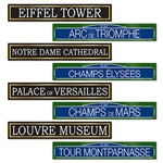 French Street Signs Cutouts