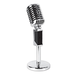 Regardless of whether you're a music teacher or hosting a music themed party, there should be room for this Plastic Vintage Microphone! The product measures 12 inches and comes one Plastic Vintage Microphone per package. It's time to rock out!