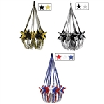 Impress all the guests at your next party with our star chandeliers. The metallic shine of each chandelier will bring excitement to all of your guests. These chandeliers are fitting for New Year's Eve, Birthday, 4th of July and so much more!
