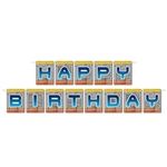 Say happy birthday to that special someone at his/her space party with this Happy Birthday Space Pennant Banner. Each individual card measures 4 inches by 6 inches. There is one letter on each card and there is 12 feet of string included in the package.