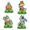 Enjoy a night in the woods or a camping themed birthday party with our Woodland Friends Mini Centerpieces. These fun centerpieces stand five inches tall, come completely assembled and open full round. The design is printed on both sides. Comes 4 per pack.