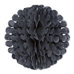 Black Tissue Flutter Ball, 19 Inches