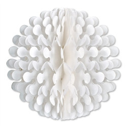 White Tissue Flutter Ball, 9 Inches