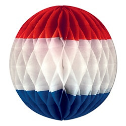 Red, White, and Blue Art-Tissue Ball