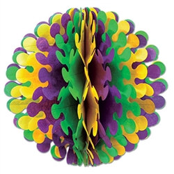 Golden-Yellow, Green, and Purple Flutter Ball