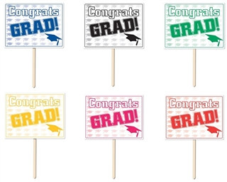 Congrats Grad Yard Sign (Choose Color)