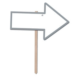Silver Blank Arrow Yard Sign