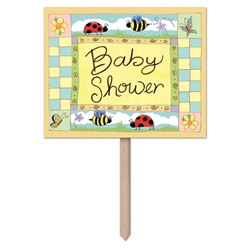 """B"" Is For Baby Yard Sign"