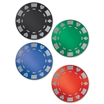 Decorate for a casino party or poker night by putting these Glittered Foil Poker Chip Cutouts on the wall. Each chip is a different color, but the glitter and foil on each one gives it some flair. The chips measure 12.25 inches and come four per package.