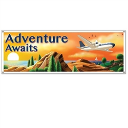 The Around The World Sign Banner is made of all-weather plastic and can be used both indoors and outdoors. It measures 21 inches tall and 5 feet long. Has 4 grommets for easy and secure hanging. Contains one (1) per package.