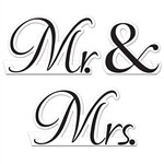 Mr & Mrs Table Cards