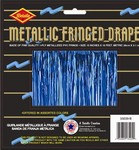 Blue 1-Ply Metallic Fringe Drape