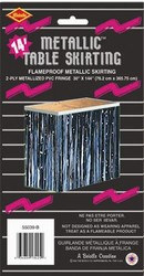 Black 2-Ply Metallic Table Skirting