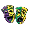Comedy and Tragedy Face Cutouts (2/pkg)