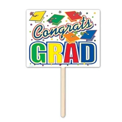 Congrats Grad Yard Sign, 12inx15in