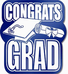Blue Foil Congrats Grad Cutout, 13 in