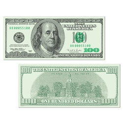 Big Bucks Cutout $100 Bill