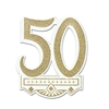 Glittered 50th Anniversary Crest