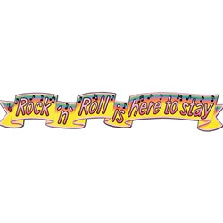 Rock and Roll Banner 6 ft