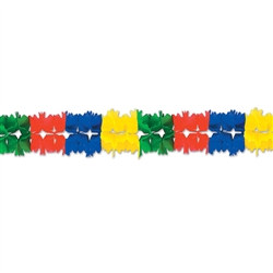Green, Red, Blue, Canary Pageant Garland