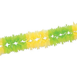 Light Green and Canary Pageant Garland