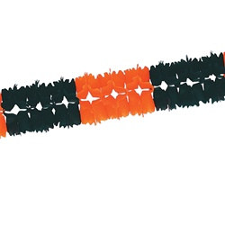 Orange and Black Pageant Garland